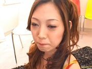 Miho Maeshima Asian doll gets a load of cum in the face
