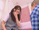 Young Rina Osawa likes having her pussy stretched picture 5