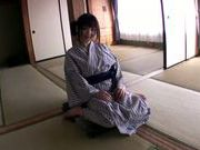 Busty Japanese teen Yui Mizumori adores pussy fingering