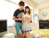 Voluptuous Asian teen gal Kana Yume sucks and rides cock on pov picture 12