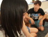 Voluptuous Asian teen gal Kana Yume sucks and rides cock on pov picture 14