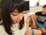 Voluptuous Asian teen gal Kana Yume sucks and rides cock on pov picture 15