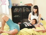 Voluptuous Asian teen gal Kana Yume sucks and rides cock on pov picture 1