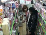 Naughty Japanese salesgirl Yui Akane makes a handjobasian women, japanese pussy}