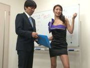 Hot mature diva Reiko Kobayakawa strips and sucks a dong