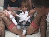Three Guys Feed Their Meat Into The Naughty Office Teen picture 14