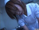 Japanese AV model is a horny nurse who really loves her patients picture 11