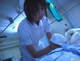 Japanese AV model is a horny nurse who really loves her patients picture 13