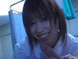 Japanese AV model is a horny nurse who really loves her patients picture 14
