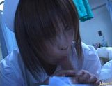 Japanese AV model is a horny nurse who really loves her patients picture 15