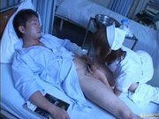 Japanese AV model is a horny nurse who really loves her patients