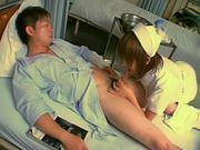 Japanese AV model is a horny nurse who really loves her patientsasian ass, fucking asian}