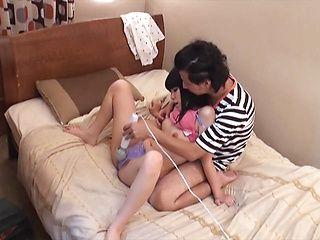Kinky Japanese amateur with tiny tits enjoys hard fucking