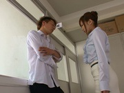 Deepthroat oral along naughty Kokone Mizutani