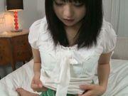 A big vibrator makes Nozomi Aiuchi's teen pussy cum hard