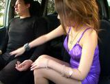Naughty MILF Hitomi Kitagawa Sucks And Tit Fucks In A Car