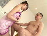 Koharu Suzuki sexy Asian teen gives an oil massage picture 10