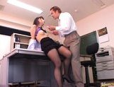Reona Kanzaki Asian student gets fucked after school picture 13