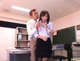 Reona Kanzaki Asian student gets fucked after school picture 3