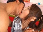 Kanna Hot Asian babe gets fucked in all positions on a date