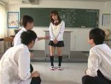 Sexy Minami Kojina gets naughty at school picture 1