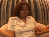 Lovely Japanese AV model has some fun with pussy poking picture 15