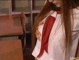 Kirara Asuka Asian doll in school uniform enjoys a good fucking