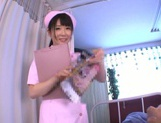 Very sexy nurse Rin Suzune deepthroats and rides cock on pov picture 1