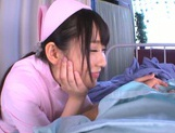 Very sexy nurse Rin Suzune deepthroats and rides cock on pov picture 7