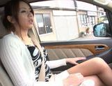 Sexy Japanese pornstar Maki Koizumi swallows hot jizz picture 4