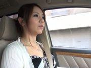 Sexy Japanese pornstar Maki Koizumi swallows hot jizz