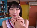 Talented Japanese AV girl Kana Yume makes footjob and sucks picture 11