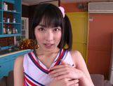 Talented Japanese AV girl Kana Yume makes footjob and sucks picture 12