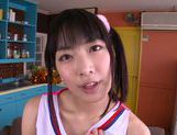Talented Japanese AV girl Kana Yume makes footjob and sucks picture 13