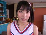 Talented Japanese AV girl Kana Yume makes footjob and sucks