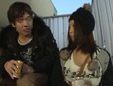 Busty Japanese milf gets pounded outdoors picture 12