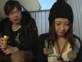 Busty Japanese milf gets pounded outdoors picture 13