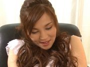 Ameri Ichinose Asian model plays in her pussy with a vibrator