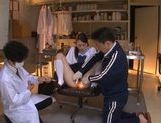 Innocent looking Yuri Hasegawa is teased by two dudes picture 11