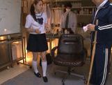 Innocent looking Yuri Hasegawa is teased by two dudes picture 4