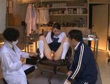 Innocent looking Yuri Hasegawa is teased by two dudes picture 9