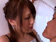 Fine looking chick Ria Horisaki amateur rim job!
