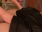 Tempting Asian masseuse Akiho Yoshizawa sucks cock on pov picture 15