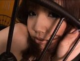 Akina Ishki is a lovely Asian teen gives sensual blowjob picture 1