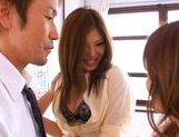 Aya Matsuki Pretty Asian beauty in a short skirt shows off hot pussy picture 3