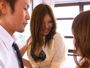 Aya Matsuki Pretty Asian beauty in a short skirt shows off hot pussy