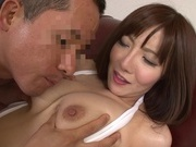 Busty mature hottie in white lingerie enjoys fucking gets cum on titshot asian girls, japanese sex}