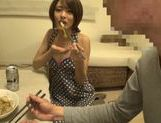 Sweet Japanese milf Yuuki Natsume gives head and swallows picture 12