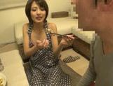 Sweet Japanese milf Yuuki Natsume gives head and swallows picture 13