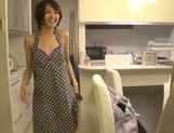 Sweet Japanese milf Yuuki Natsume gives head and swallows picture 3